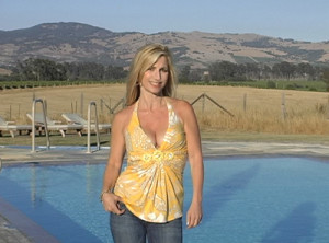 California Living® show creator and host Aprilanne Hurley checks out the Carneros Inn & Spa's Hilltop Pool