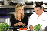 "California Living series creator and host Aprilanne Hurley ""Making Meatballs"" with Graziano"