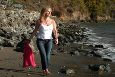 California Living® host Aprilanne Hurley on location at Angel Island State Park