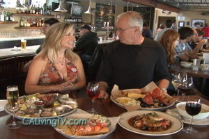California Living® host Aprilanne Hurley checks out the award winning waterfront dining at Sam's Chowder House in Half Moon Bay, California on ION Television.
