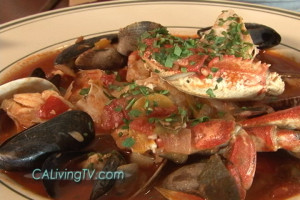 "Score the authentic ""sams tiburon"" San Francisco style Crab Cioppino Recipe featured on California Living® with host Aprilanne Hurley."