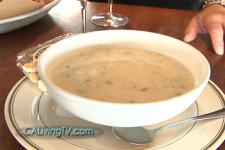 California Living® host Aprilanne Hurley scores The Tides Wharf & Restaurant's Clam Chowder Recipe.