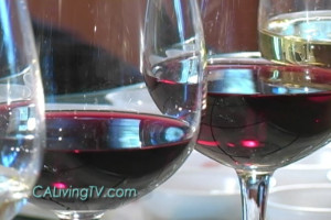 "California Living® host Aprilanne Hurley raises a glass to ""California Wine Month."""