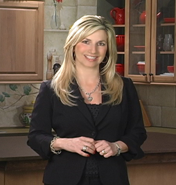 California Living ® TV host and Author of the Party Girl Diet - Aprilanne Hurley in her studio kitchen