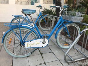 California Living ® -Dream Inn Santa Cruz guests are welcome to cruise around town on complimentary bicycles.