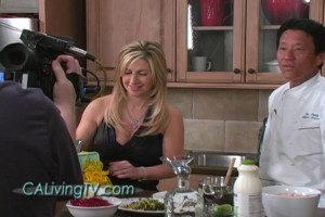 California Living ® TV host Aprilanne Hurley filming in Sonoma Studio Kitchen.